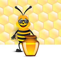 abeille pot de miel